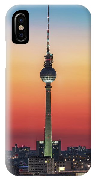Orange Color iPhone Case - Berlin - Pastell Study #1 by Jean Claude Castor