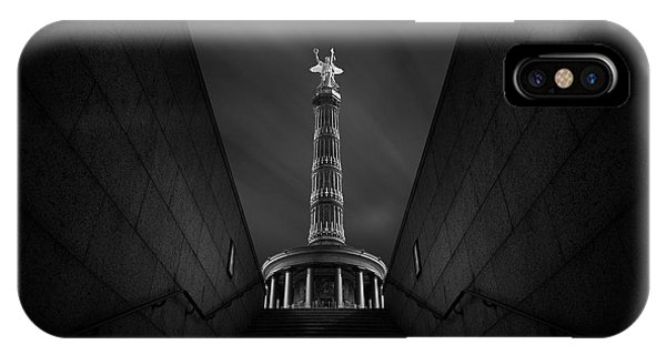 Monument iPhone Case - Berlin Victory Column by Nadav Jonas