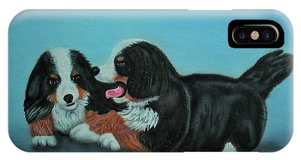 Bernese Mountain Puppies IPhone Case