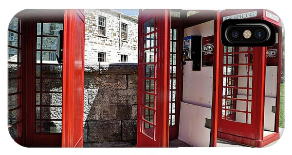 IPhone Case featuring the photograph Bermuda Phone Boxes 2 by Richard Reeve