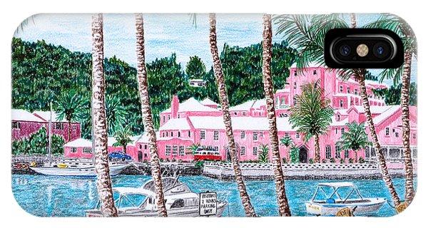 Bermuda Pink Hotel IPhone Case