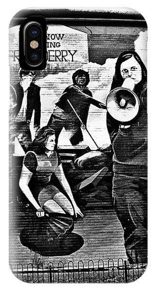 Bernadette Devlin Mural 2 IPhone Case