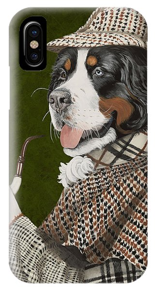 Blue Dress iPhone Case - Berner Of The Baskerville by Liane Weyers