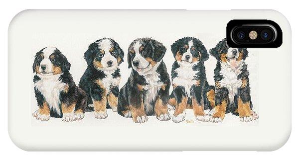 Bernese Mountain Dog Puppies IPhone Case