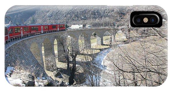 Bernina Express In Winter IPhone Case