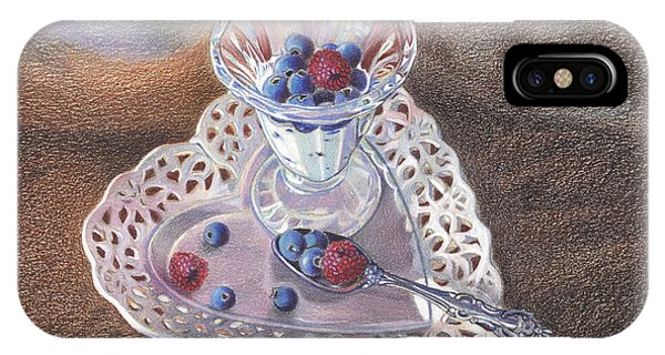 Berries And Cream Phone Case by Lidia Penczar