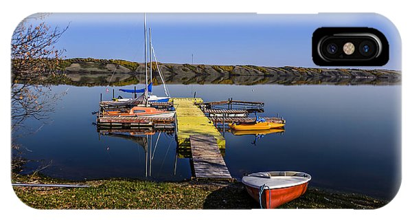 iPhone Case - Berth For Yachts At Manitou Lake by Viktor Birkus