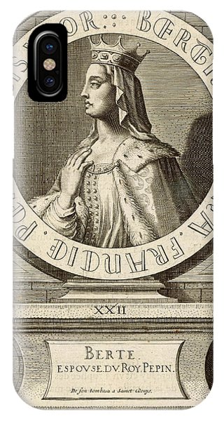 Berthe,  Queen Of Pepin Le Bref, King Phone Case by Mary Evans Picture Library