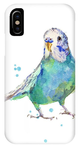 Parakeet iPhone Case - Bertie Wonderblue The Budgie by Alison Fennell