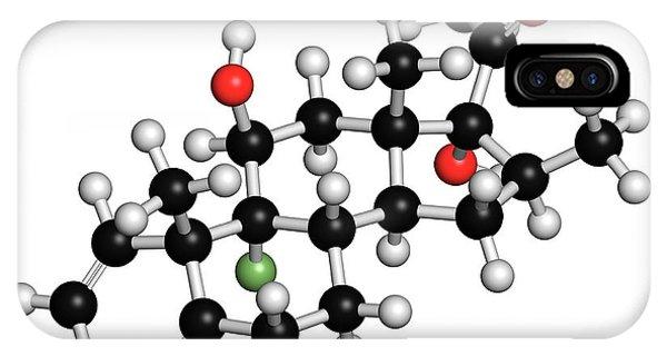 Betamethasone Steroid Molecule Phone Case by Molekuul