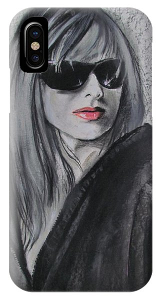 IPhone Case featuring the drawing Bethany by Eric Dee