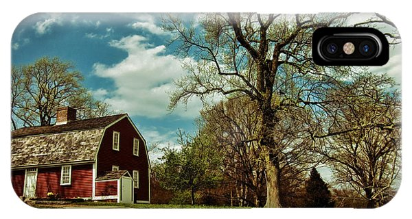 New England Barn iPhone Case - Betsy William's House by Lourry Legarde