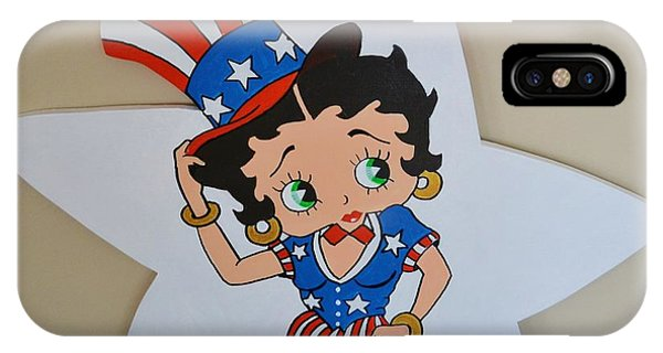 Betty Boop Celibrating The 4th O July IPhone Case