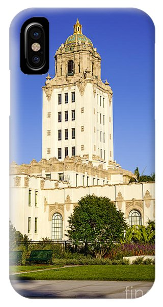 Beverly Hills iPhone Case - Beverly Hills Police Station by Paul Velgos