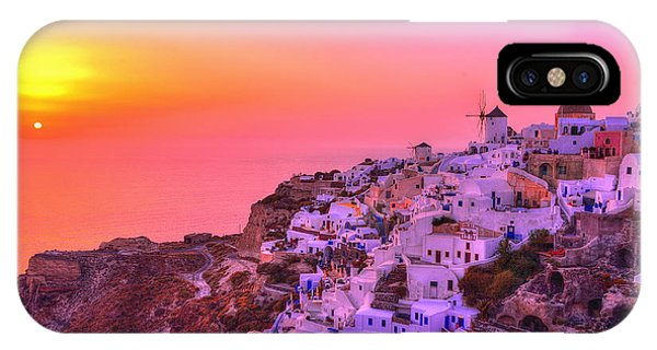 Greece iPhone Case - Bewitched Sunset by Midori Chan