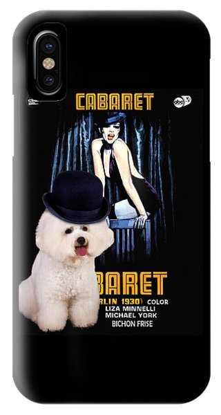 Bichon Frise Art - Cabaret Movie Poster IPhone Case