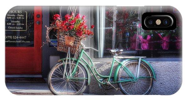 Siloam springs iphone cases fine art america siloam springs iphone case bicycle and flowers by tony colvin mightylinksfo
