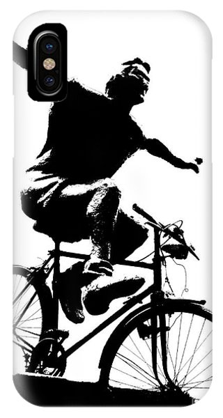 Bicycle - Black And White Pixels IPhone Case