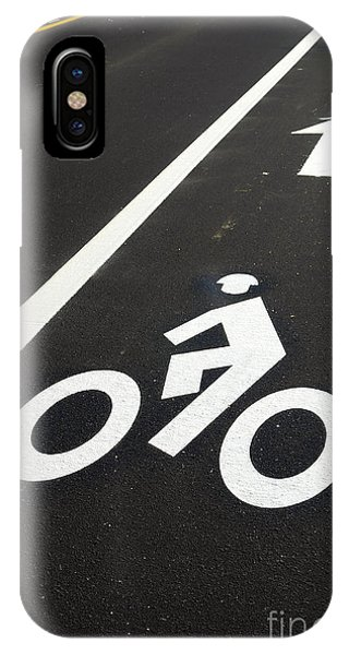 Bicycle iPhone X Case - Bicycle Lane by Olivier Le Queinec