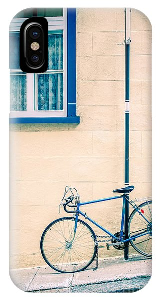 Bike iPhone Case - Bicycle On The Streets Of Old Quebec City by Edward Fielding