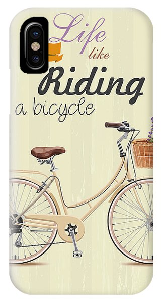 Bicycle With Lavender In Basket. Poster Phone Case by Tatsiana Tsyhanova