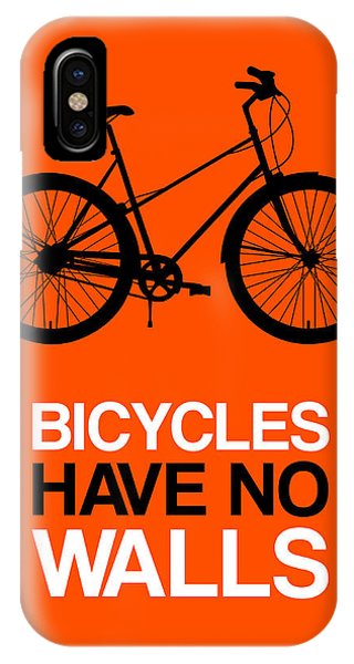 Humor iPhone Case - Bicycles Have No Walls Poster 1 by Naxart Studio