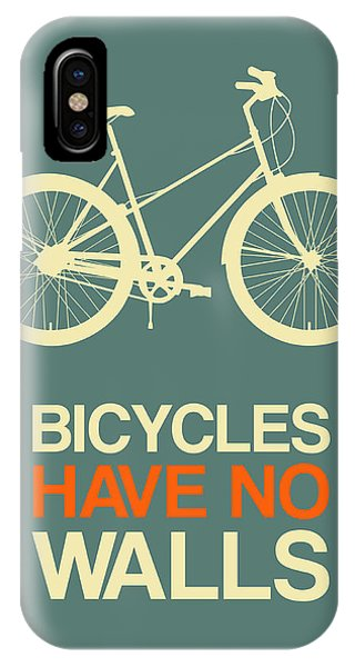 Humor iPhone Case - Bicycles Have No Walls Poster 3 by Naxart Studio