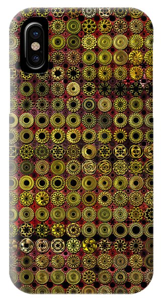 Biding Time In The Gold Flocked Basement Twixt Death And Funeral IPhone Case