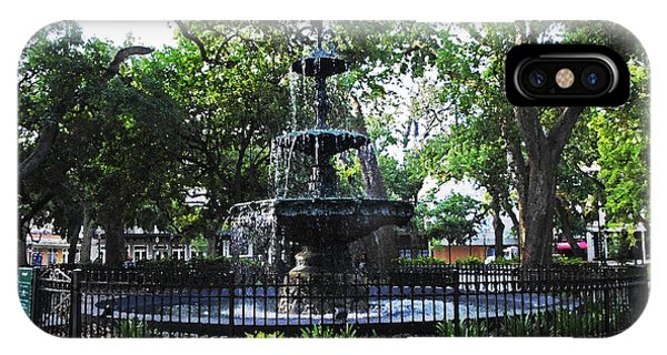 Ok iPhone Case - Bienville Fountain Mobile Alabama by Michael Thomas