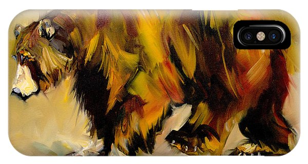 Big Bear Walking IPhone Case