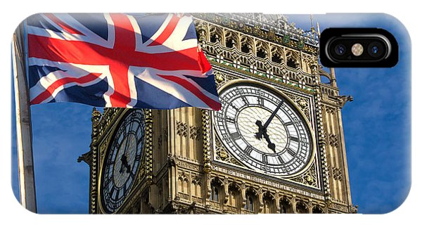 Big Ben And Union Jack Phone Case by Neven Milinkovic