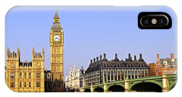Landmark iPhone Case - Big Ben And Westminster Bridge by Elena Elisseeva