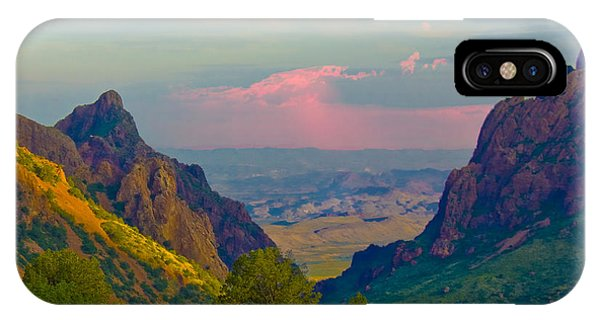 Big Bend Texas From The Chisos Mountain Lodge IPhone Case