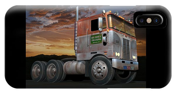 Trucking iPhone Case - Big Bob's Cabover by Stuart Swartz