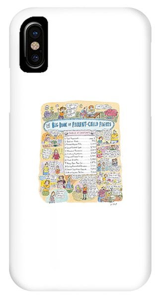 'big Book Of Parent-child Fights' IPhone Case