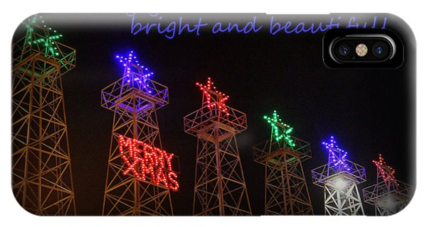 Big Bright Christmas Greeting  IPhone Case