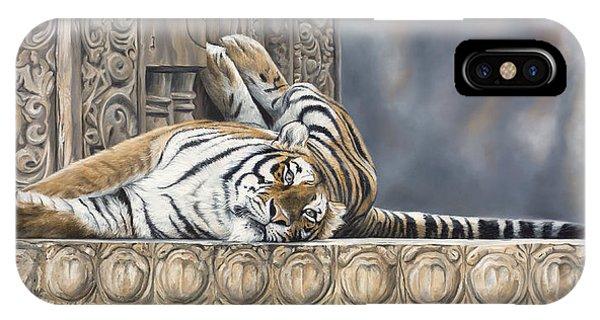 Big Cat iPhone Case - Big Cat by Lucie Bilodeau