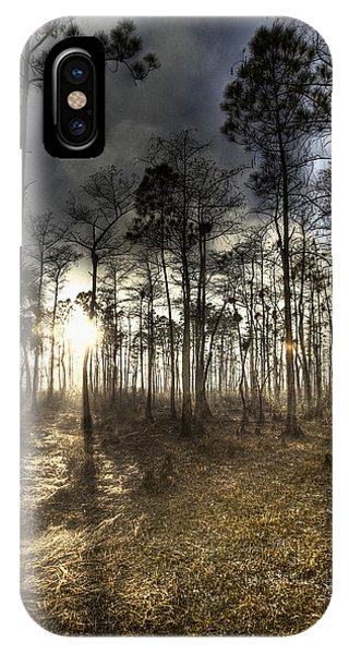 Big Cypress Fire At Sunset IPhone Case