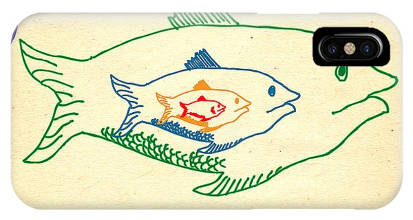 iPhone Case - Big Fish Eat Little Fish by