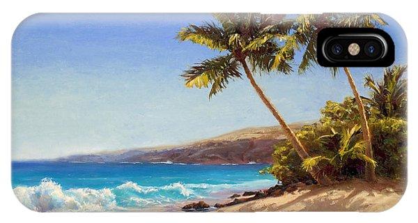 Hawaiian Beach Seascape - Big Island Getaway  IPhone Case