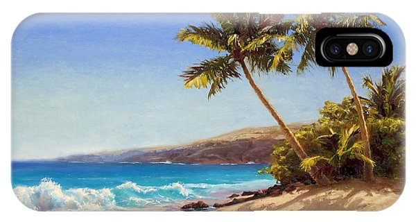 Hawaiian Beach Seascape - Big Island Getaway  IPhone Case