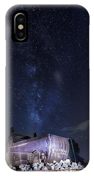 Big Muskie Bucket Milky Way And A Shooting Star IPhone Case