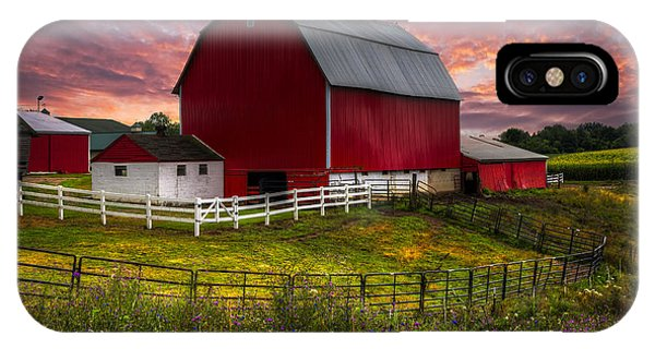Haven iPhone Case - Big Red At Sunset by Debra and Dave Vanderlaan