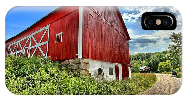 Somerset County iPhone Case - Big Red Barn by Adam Jewell