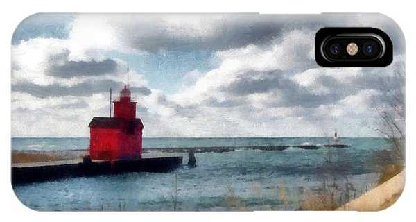 Michelle iPhone Case - Big Red Big Wind by Michelle Calkins
