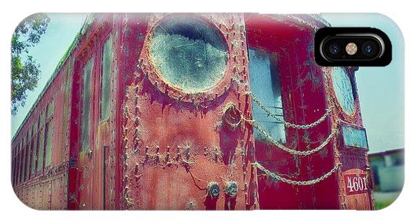 Big Red Car #4601 IPhone Case