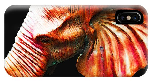 Alabama iPhone Case - Big Red - Elephant Art Painting by Sharon Cummings