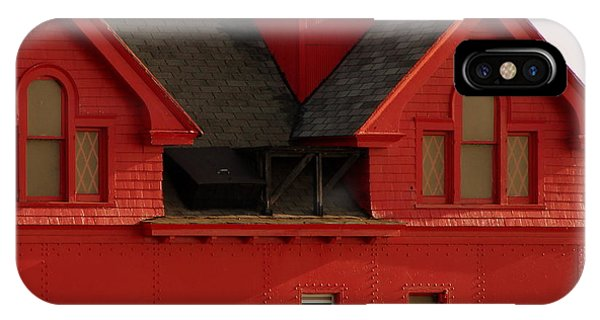 Big Red Holland Harbor Light Michigan IPhone Case