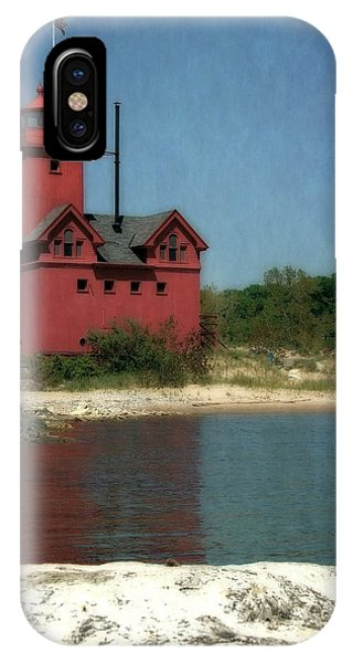 Big Red Holland Michigan Lighthouse IPhone Case
