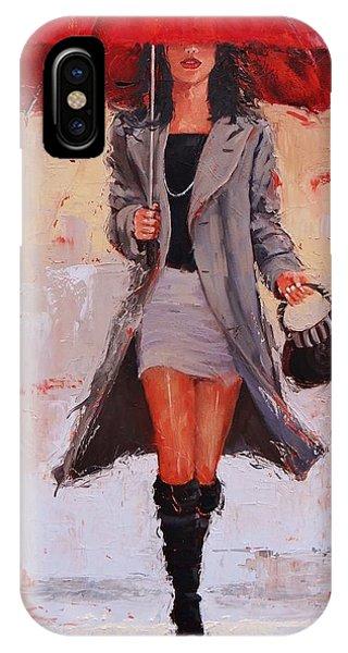 Coat iPhone Case - Big Red by Laura Lee Zanghetti